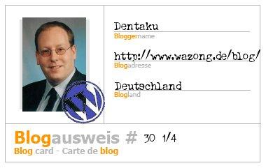 Blogausweis #30 1/4