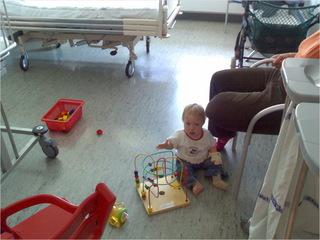 Langweiliges Krankenhauszimmer