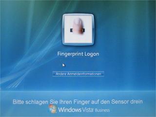 Vista mit Fingerabdrucksensor