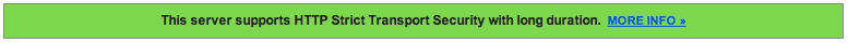 This server supports HTTP Strict Transport Security with long duration.