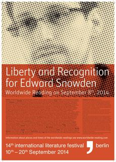 Plakat: Liberty and Recognition for Edward Snowden