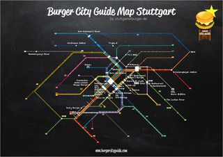 Burger City Guide Map Stuttgart