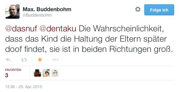 Tweet von @Buddenbohm
