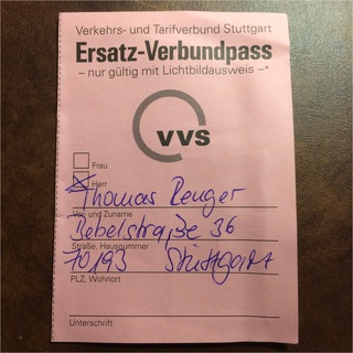 Ersatz-Verbundpass