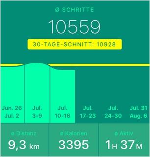 10559 Schritte